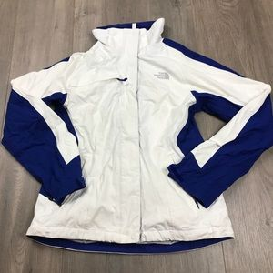 The North Face White & Blue Hyvent Jacket